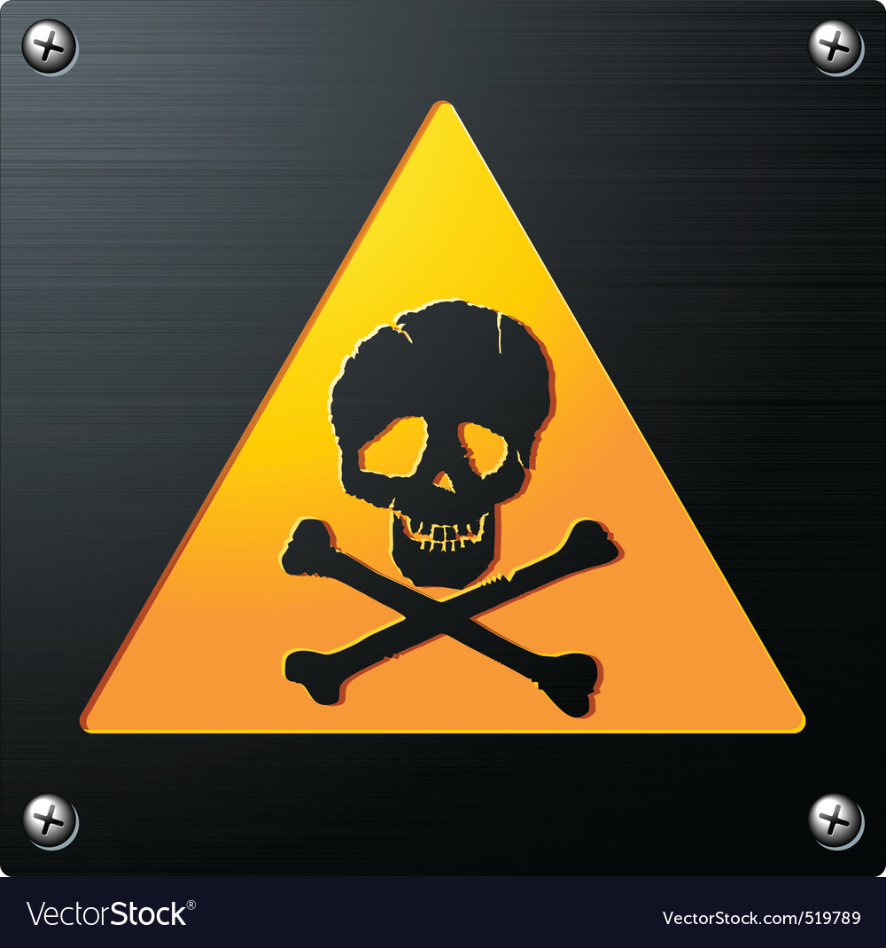 Metal grunge skull sign vector | Price: 1 Credit (USD $1)