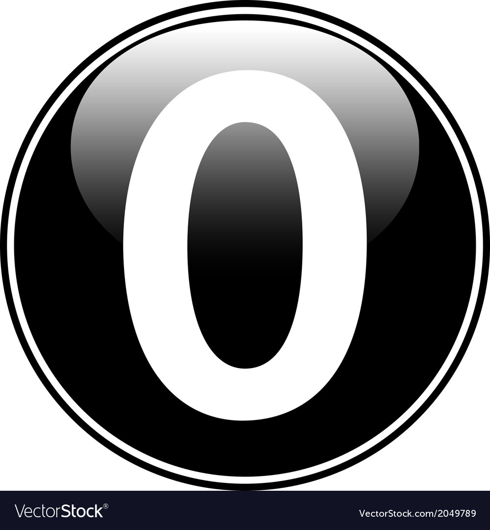 Number zero button vector | Price: 1 Credit (USD $1)
