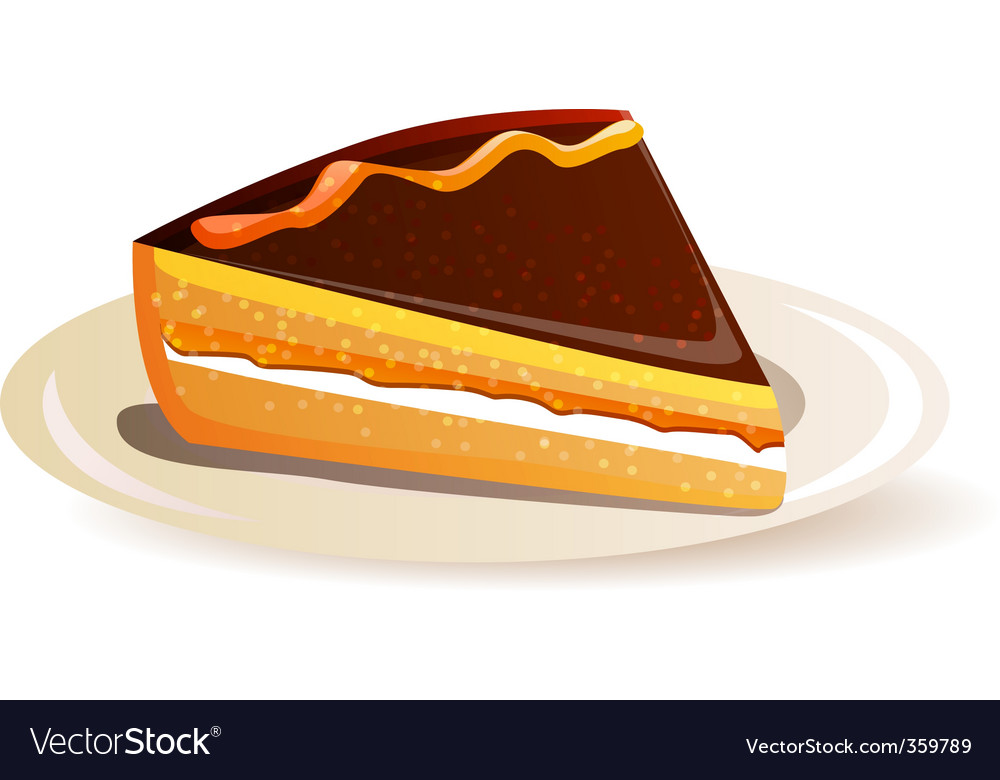 Orange cake vector | Price: 1 Credit (USD $1)