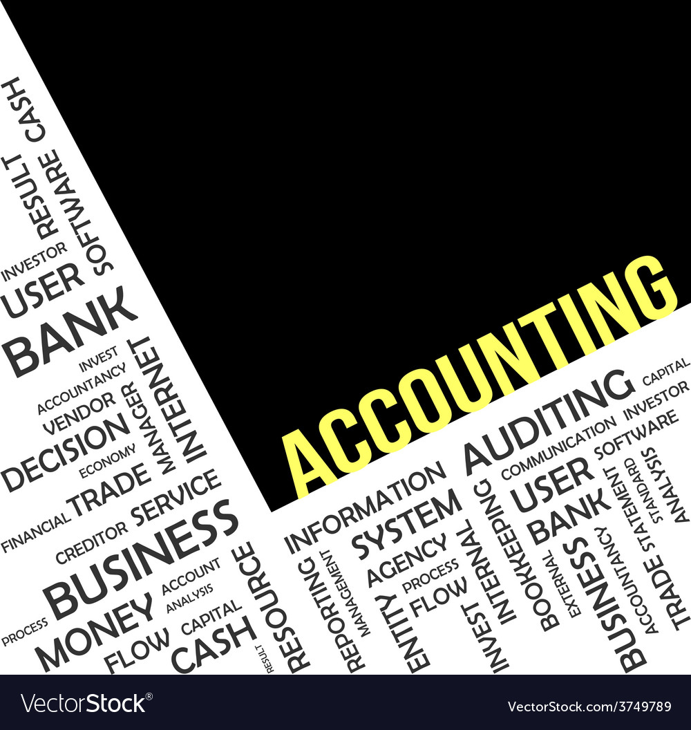 Word cloud accounting vector | Price: 1 Credit (USD $1)