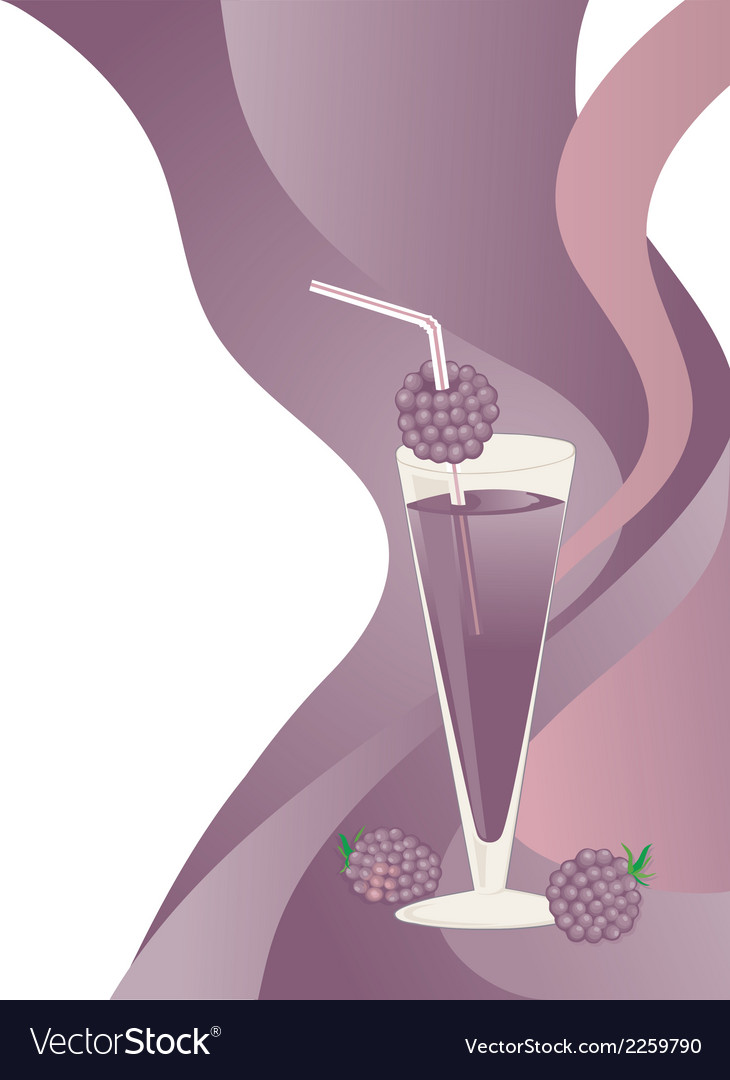 Blackberries drink vector | Price: 1 Credit (USD $1)