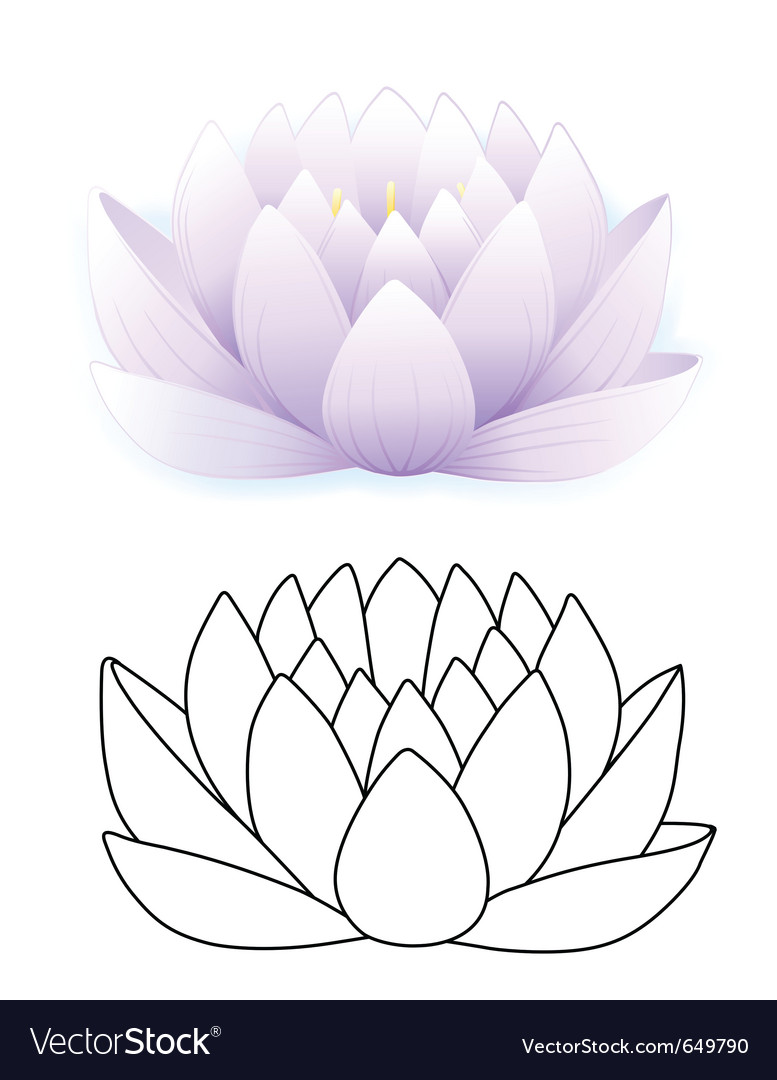Blue lotus vector | Price: 1 Credit (USD $1)