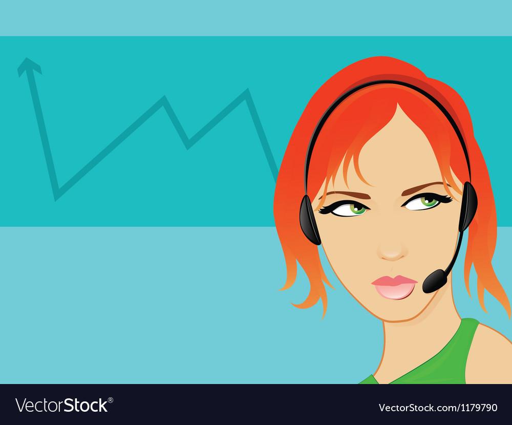 Call center receptionist vector | Price: 1 Credit (USD $1)