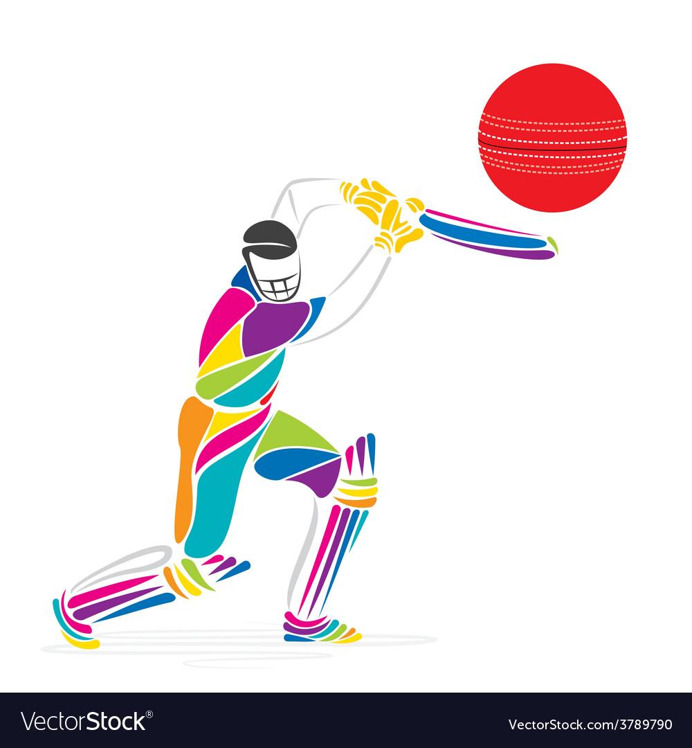 Creative cricket banner design vector | Price: 1 Credit (USD $1)