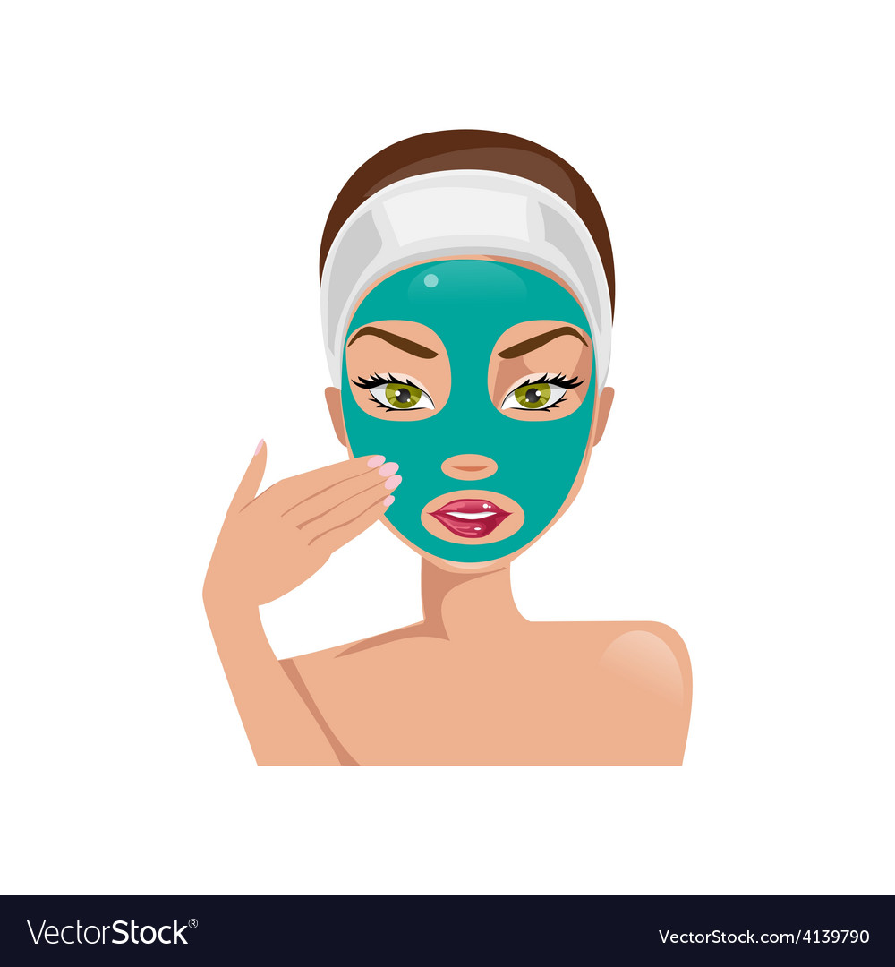 Female face with a mask vector | Price: 1 Credit (USD $1)