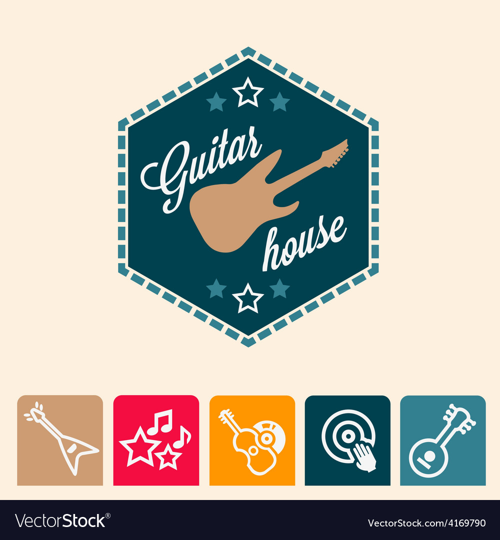 Guitar house vector | Price: 1 Credit (USD $1)