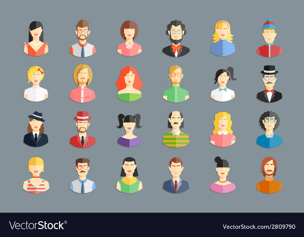 Large set of avatars vector | Price: 1 Credit (USD $1)