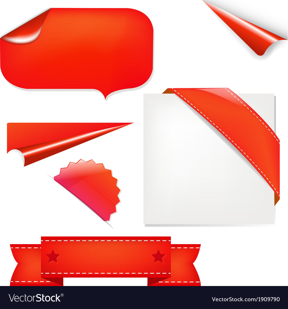 Red set vector | Price: 1 Credit (USD $1)