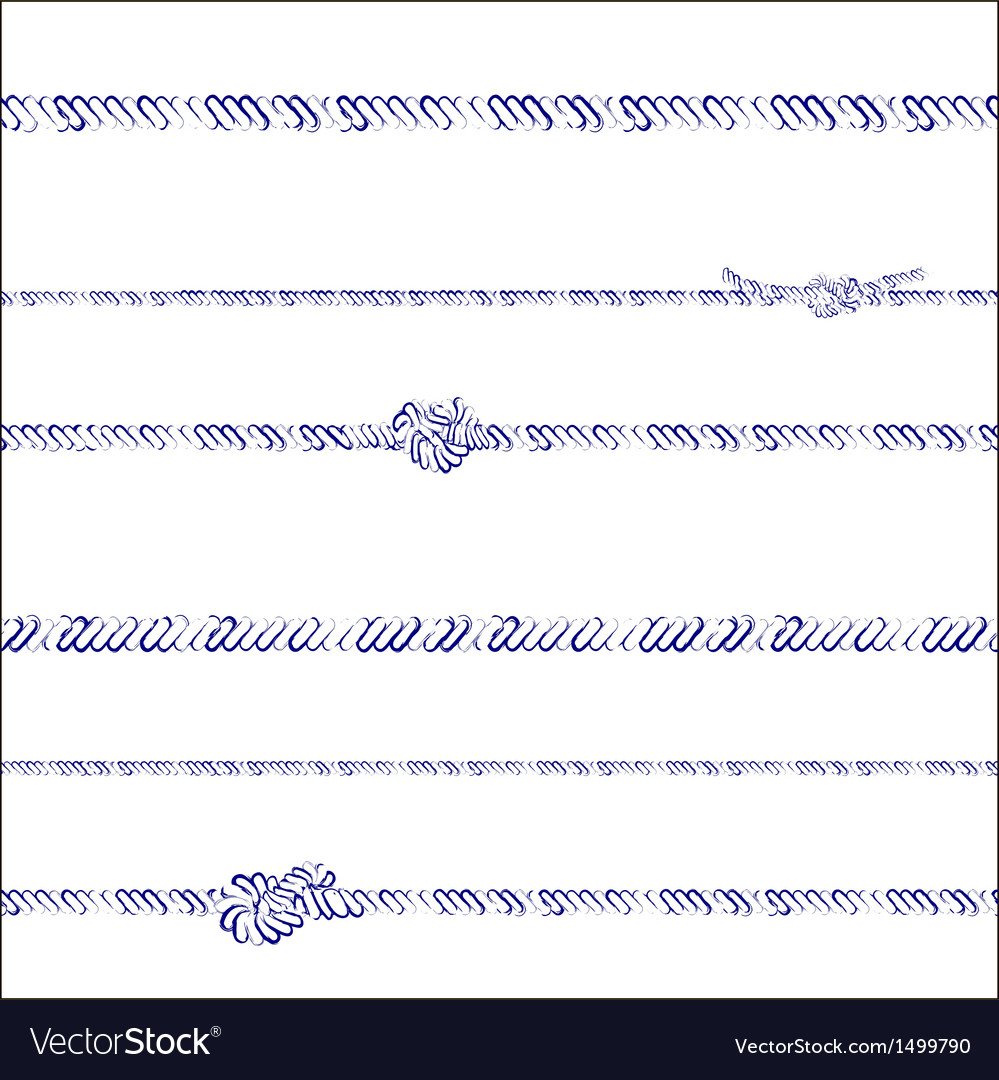 Ropes and knots pattern vector | Price: 1 Credit (USD $1)