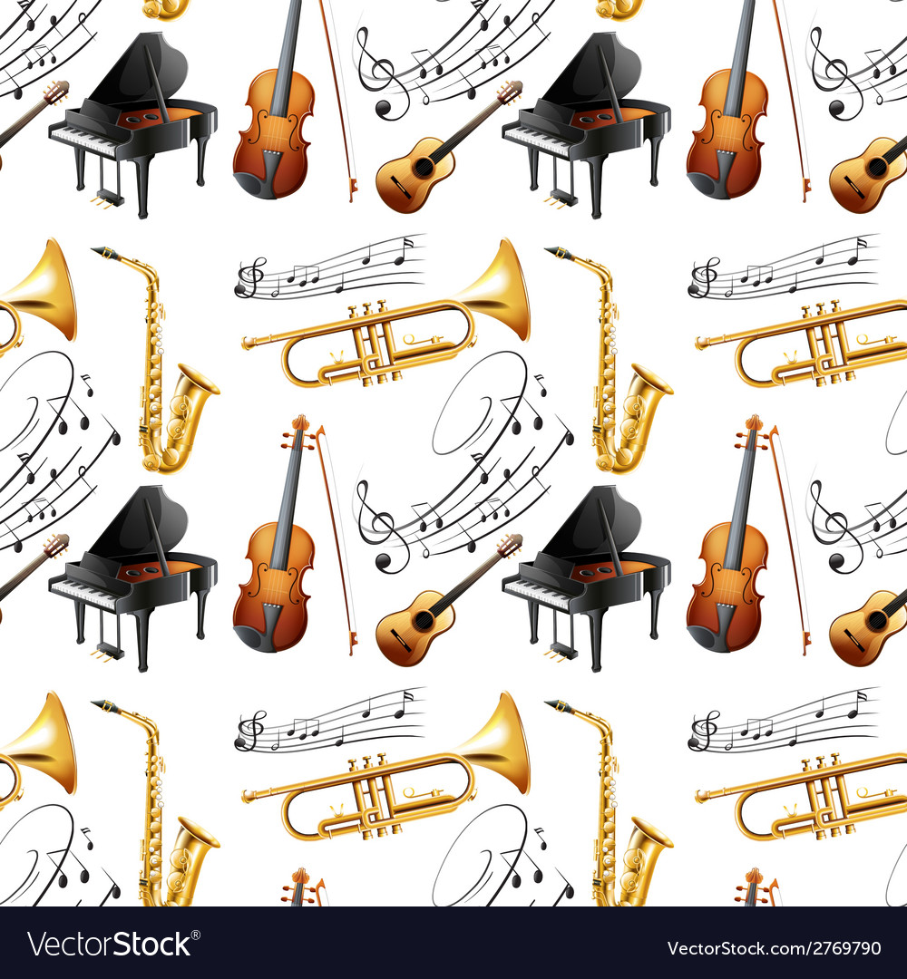 Seamless instruments vector | Price: 1 Credit (USD $1)