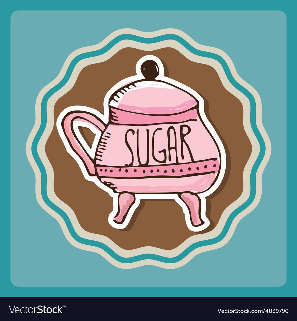 Sugar bowl vector | Price: 1 Credit (USD $1)