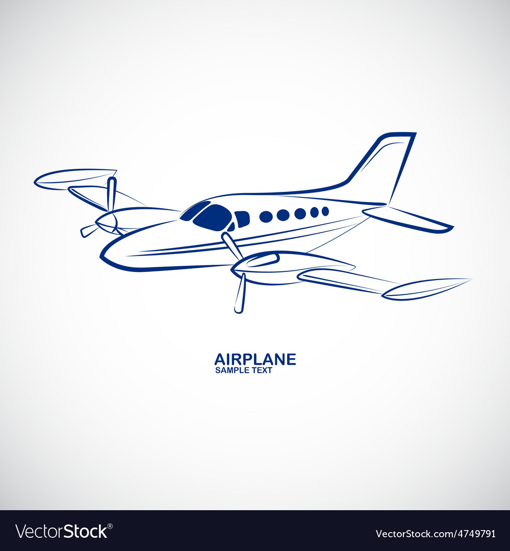 Airplane 4 vector | Price: 1 Credit (USD $1)
