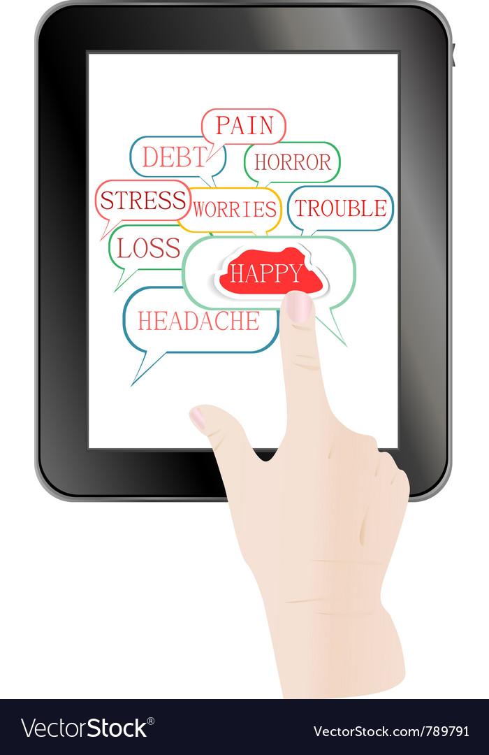 Digital tablet pc vector | Price: 1 Credit (USD $1)