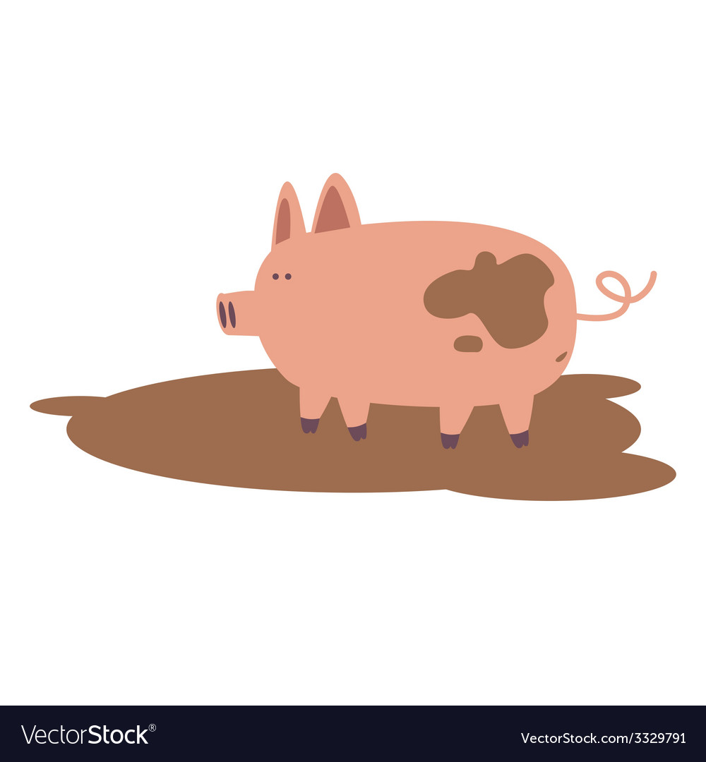 Farm pig vector | Price: 1 Credit (USD $1)