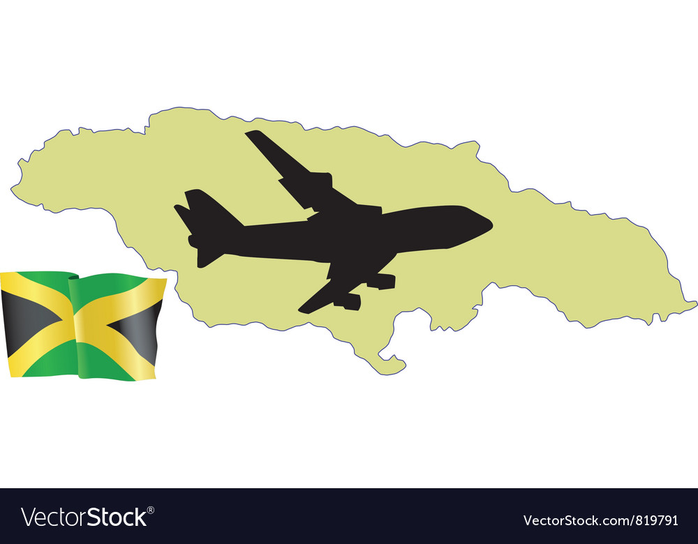 Fly me to the jamaica vector | Price: 1 Credit (USD $1)