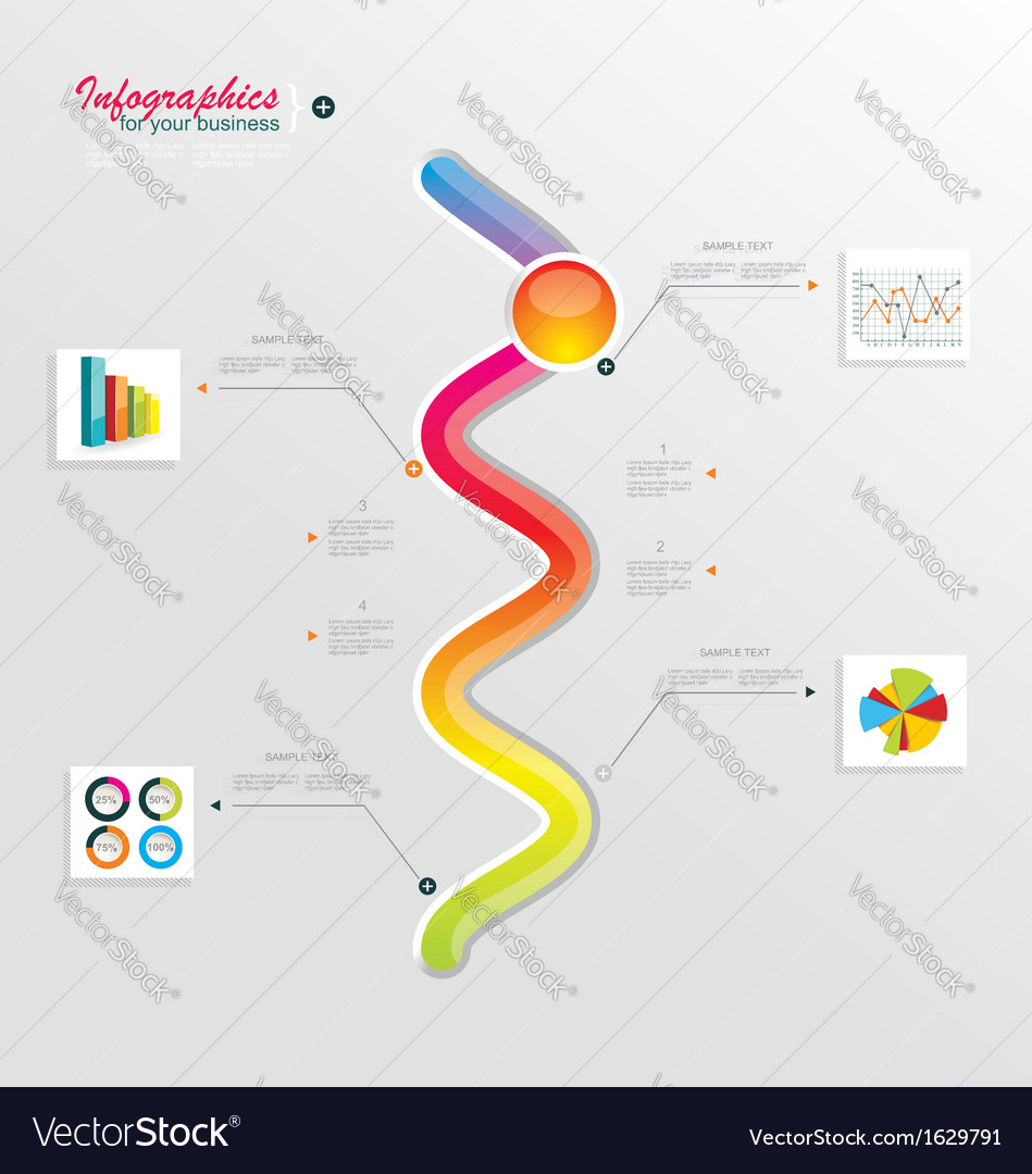 Modern timeline design template vector | Price: 1 Credit (USD $1)