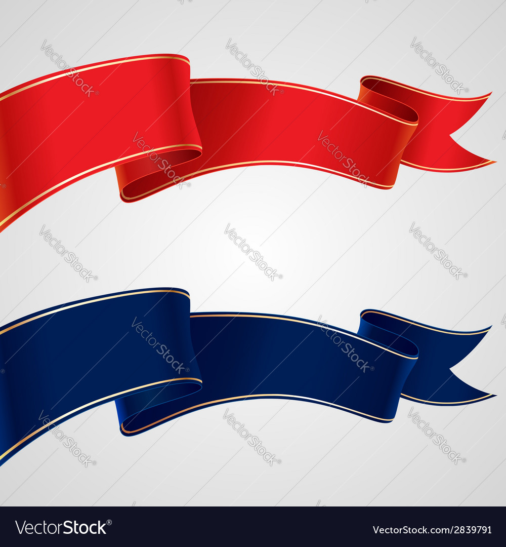 Red blue flags vector | Price: 1 Credit (USD $1)