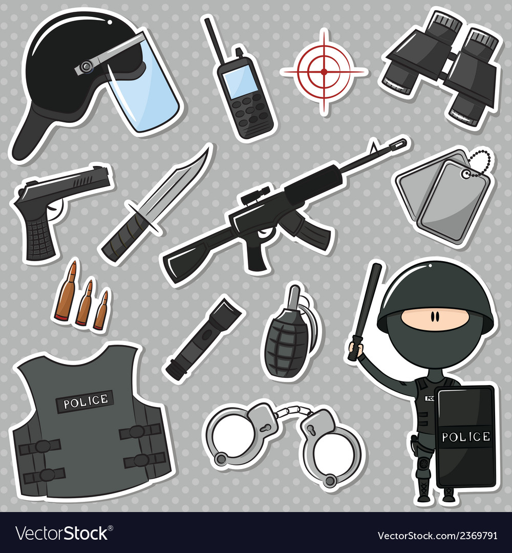 Special police officer vector | Price: 1 Credit (USD $1)