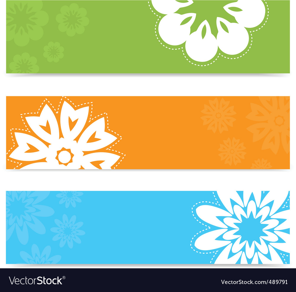 Summer floral banners vector | Price: 1 Credit (USD $1)