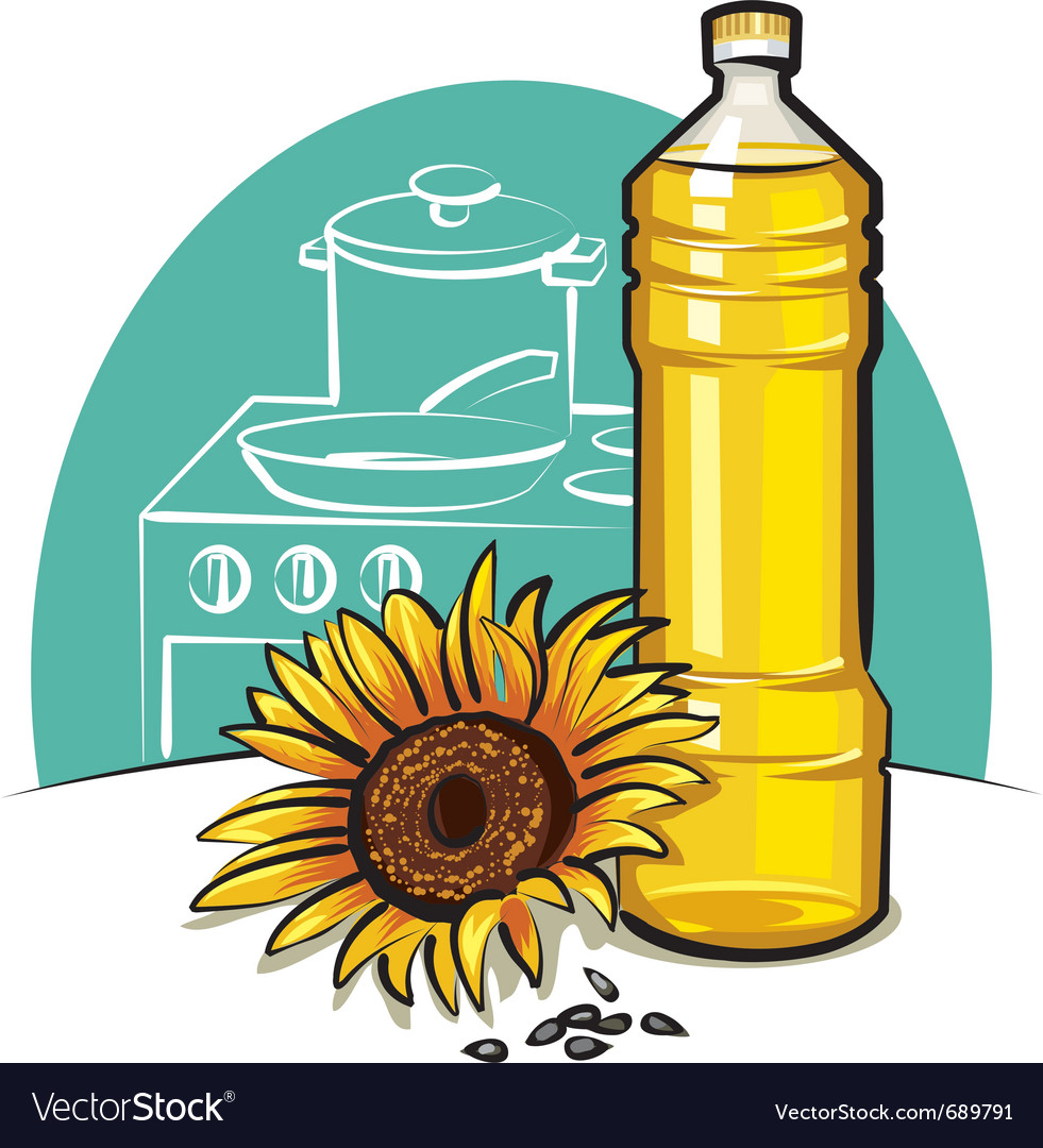 Sunflower cooking oil vector | Price: 3 Credit (USD $3)