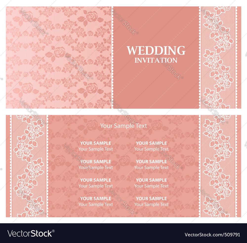 Wedding invitation  template vector | Price: 1 Credit (USD $1)