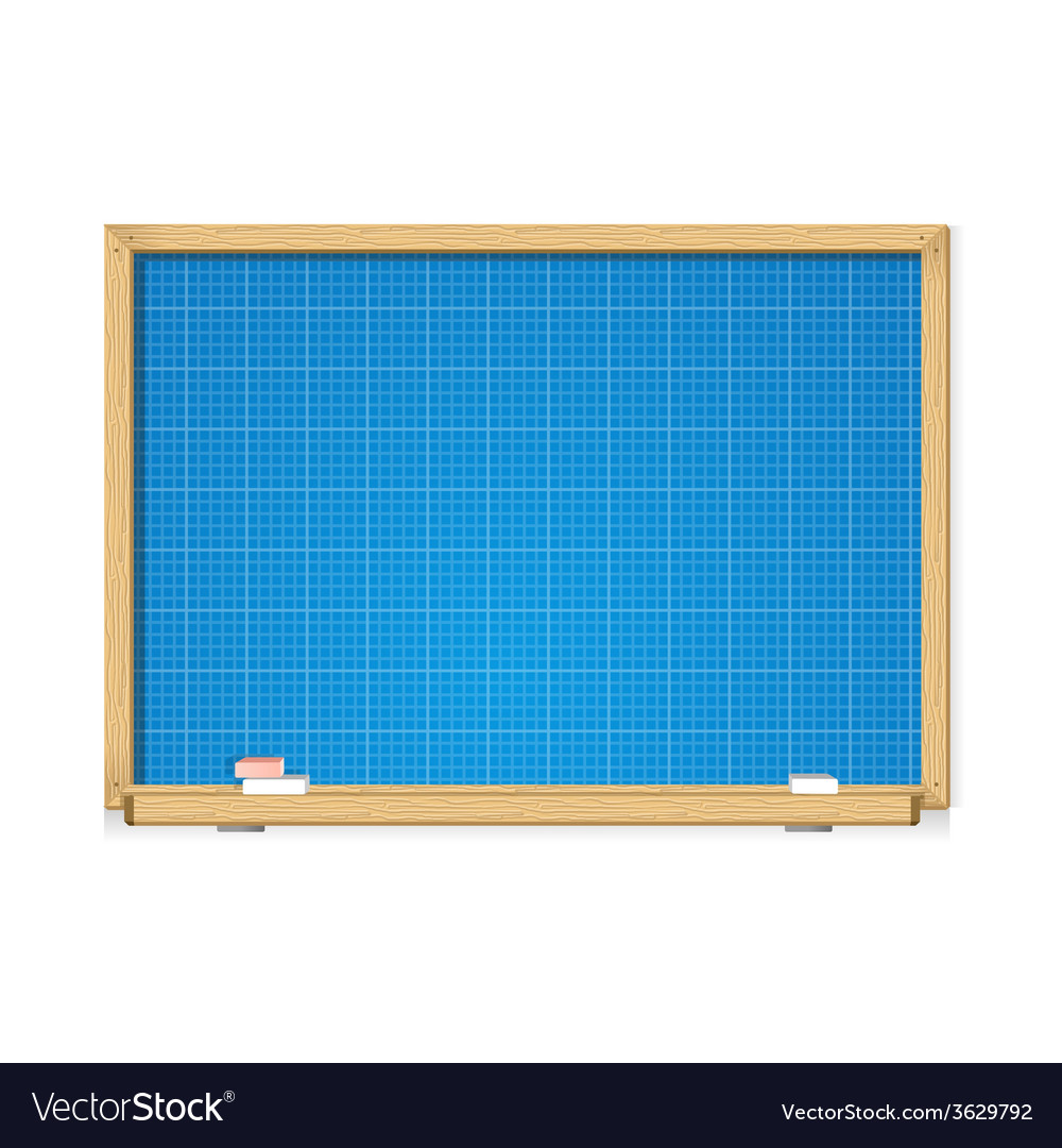 Blueprint on school blackboard vector | Price: 1 Credit (USD $1)