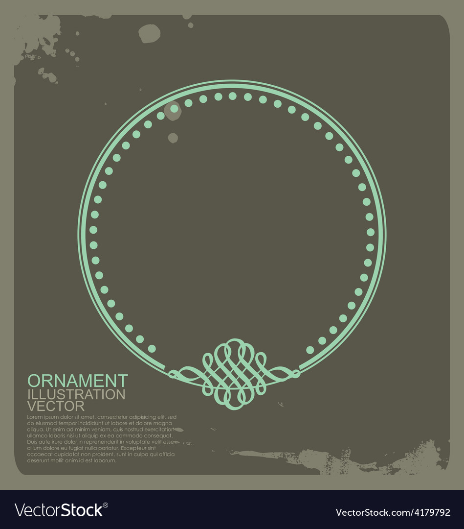 Circle vintage ornament vector | Price: 1 Credit (USD $1)