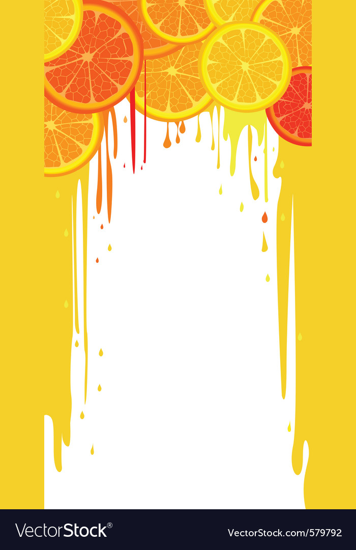 Citrus drip vector | Price: 1 Credit (USD $1)