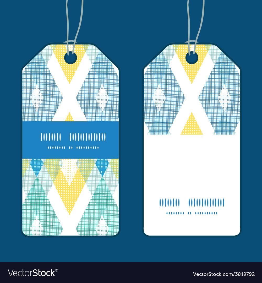 Colorful fabric ikat diamond vertical vector | Price: 1 Credit (USD $1)