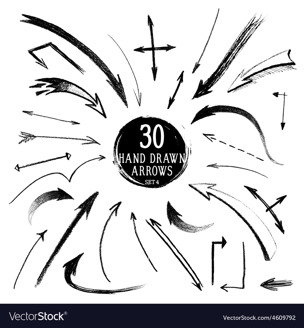 Handdrawn arrows vector