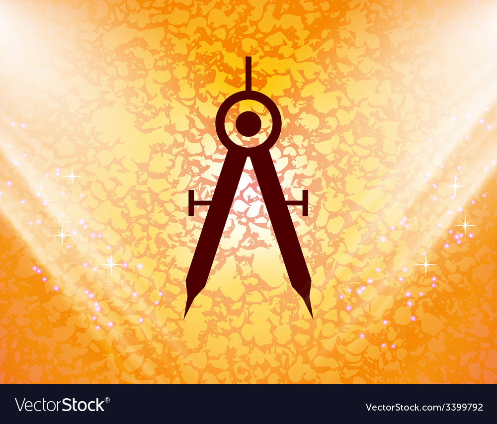 Mathematical compass icon symbol flat modern web vector   Price: 1 Credit (USD $1)