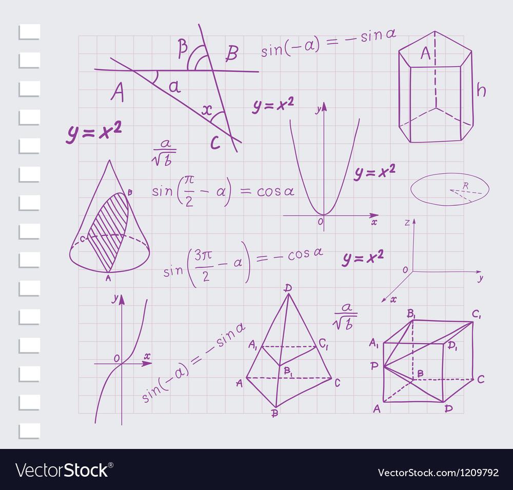 Mathematics - geometric shapes vector | Price: 1 Credit (USD $1)