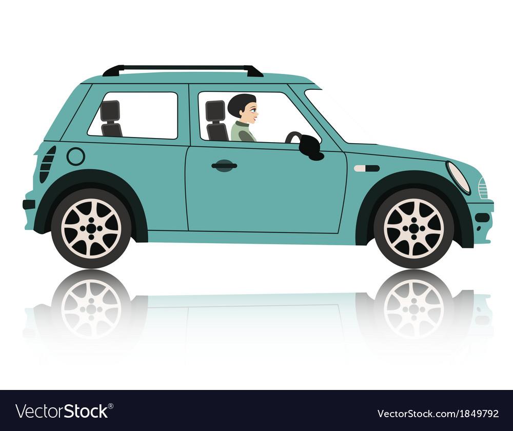 Mini car vector | Price: 1 Credit (USD $1)