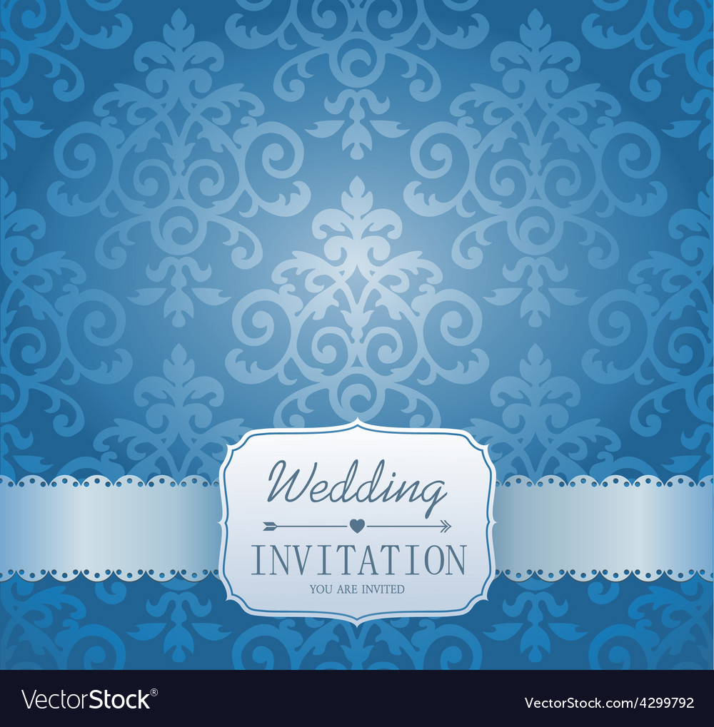 Ornate damask background invitation to the vector | Price: 1 Credit (USD $1)