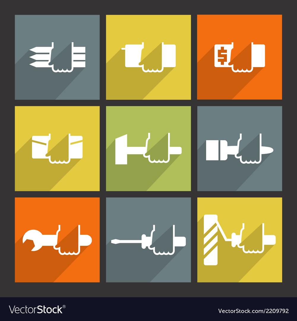 Repair flat icons set vector   Price: 1 Credit (USD $1)