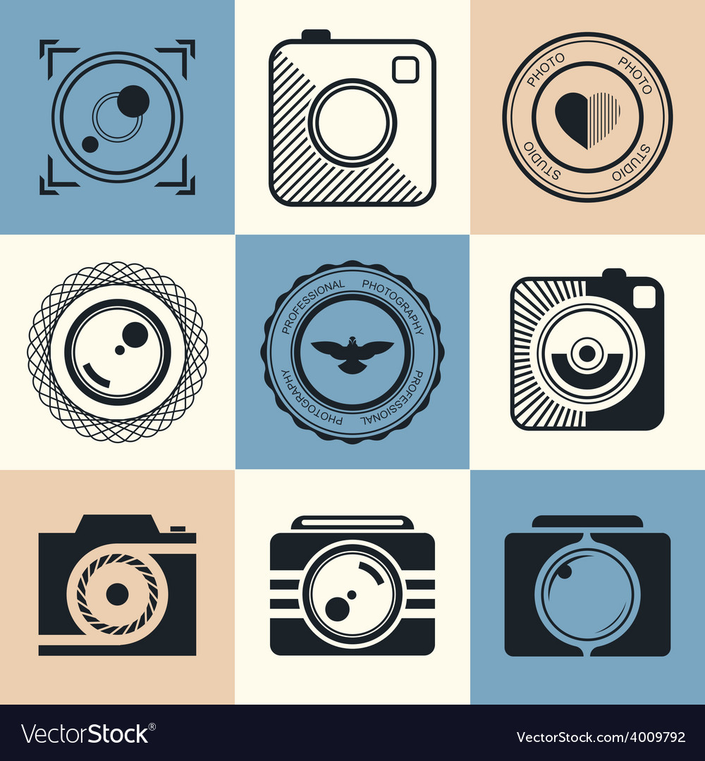 Set of icons and logos photo vector | Price: 1 Credit (USD $1)