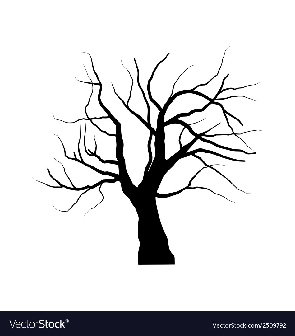 Sketch of dead tree without leaves isolated on vector | Price: 1 Credit (USD $1)