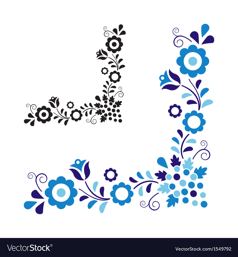 Traditional folk ornament vector | Price: 1 Credit (USD $1)