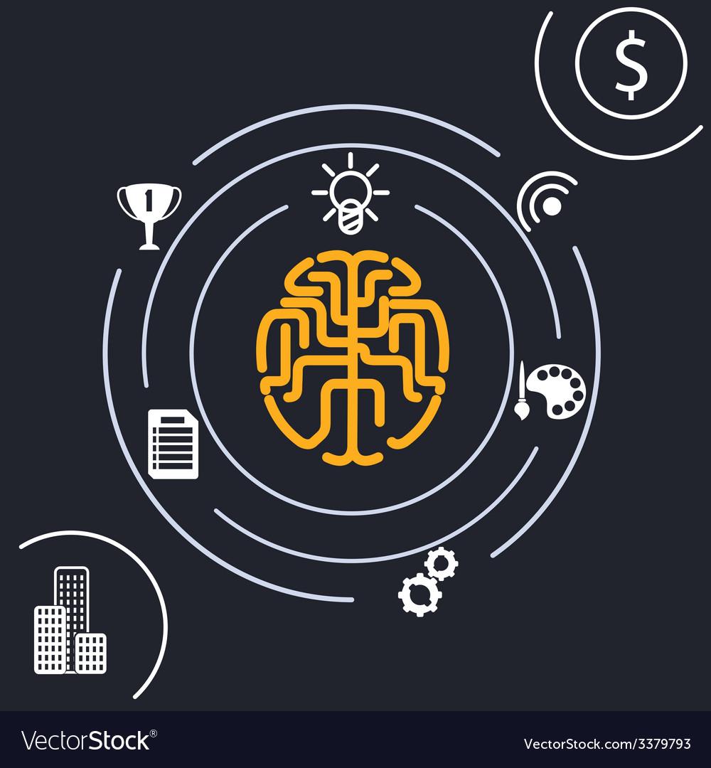 Brain analysis idea vector | Price: 1 Credit (USD $1)