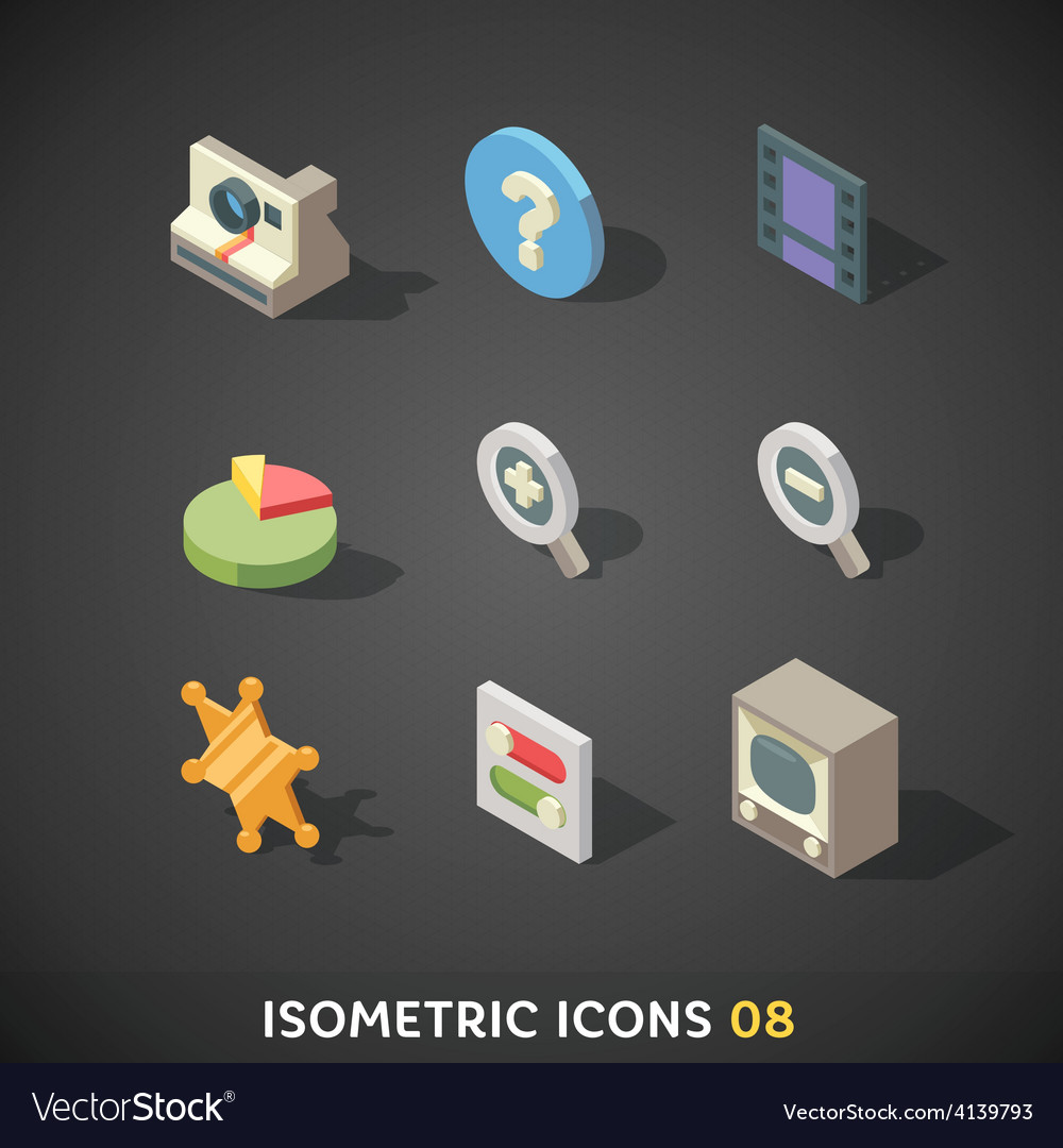 Isometricicons08 vector | Price: 3 Credit (USD $3)