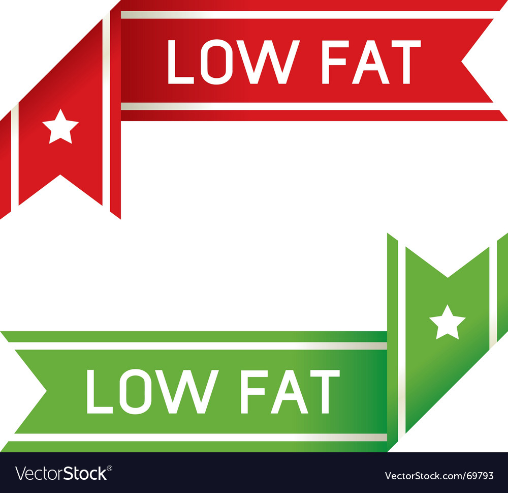 Low fat food label vector | Price: 1 Credit (USD $1)