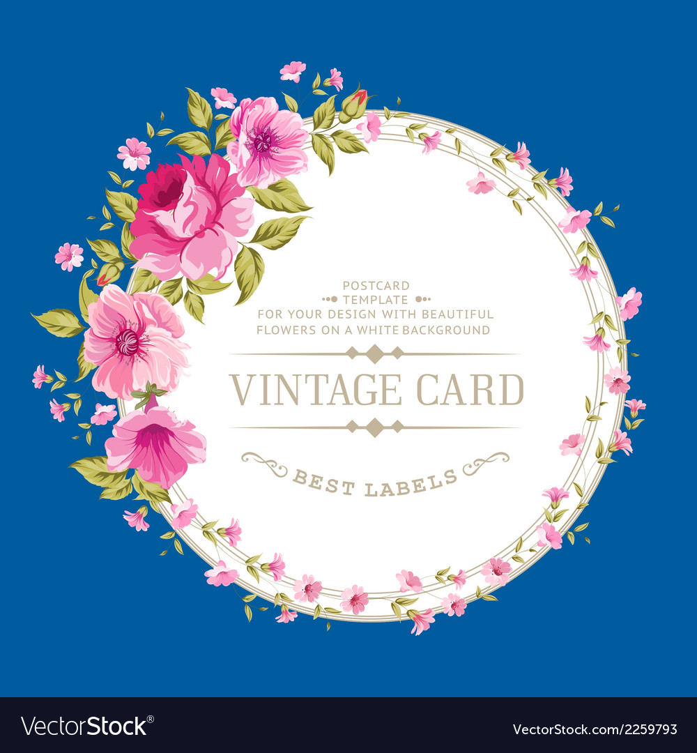 Luxurious color peony label vector | Price: 1 Credit (USD $1)