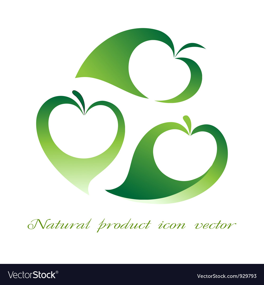 Natural product icon vector | Price: 1 Credit (USD $1)