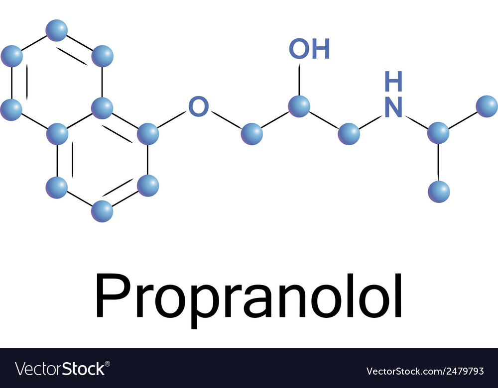 Propranolol vector | Price: 1 Credit (USD $1)