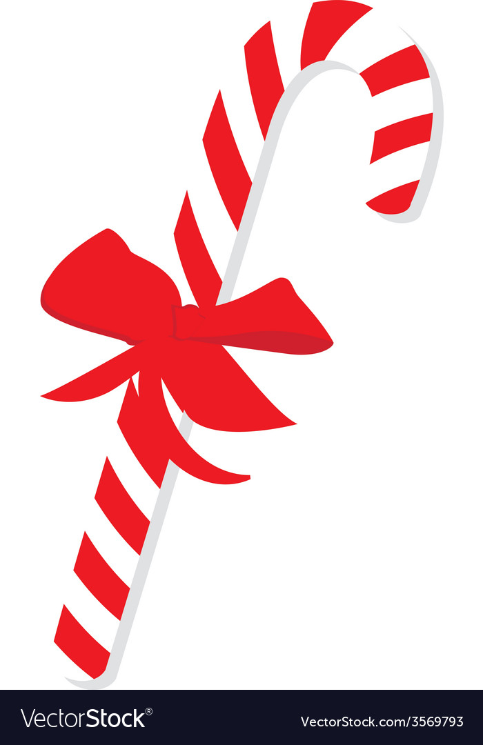 Red christmas candy cane vector