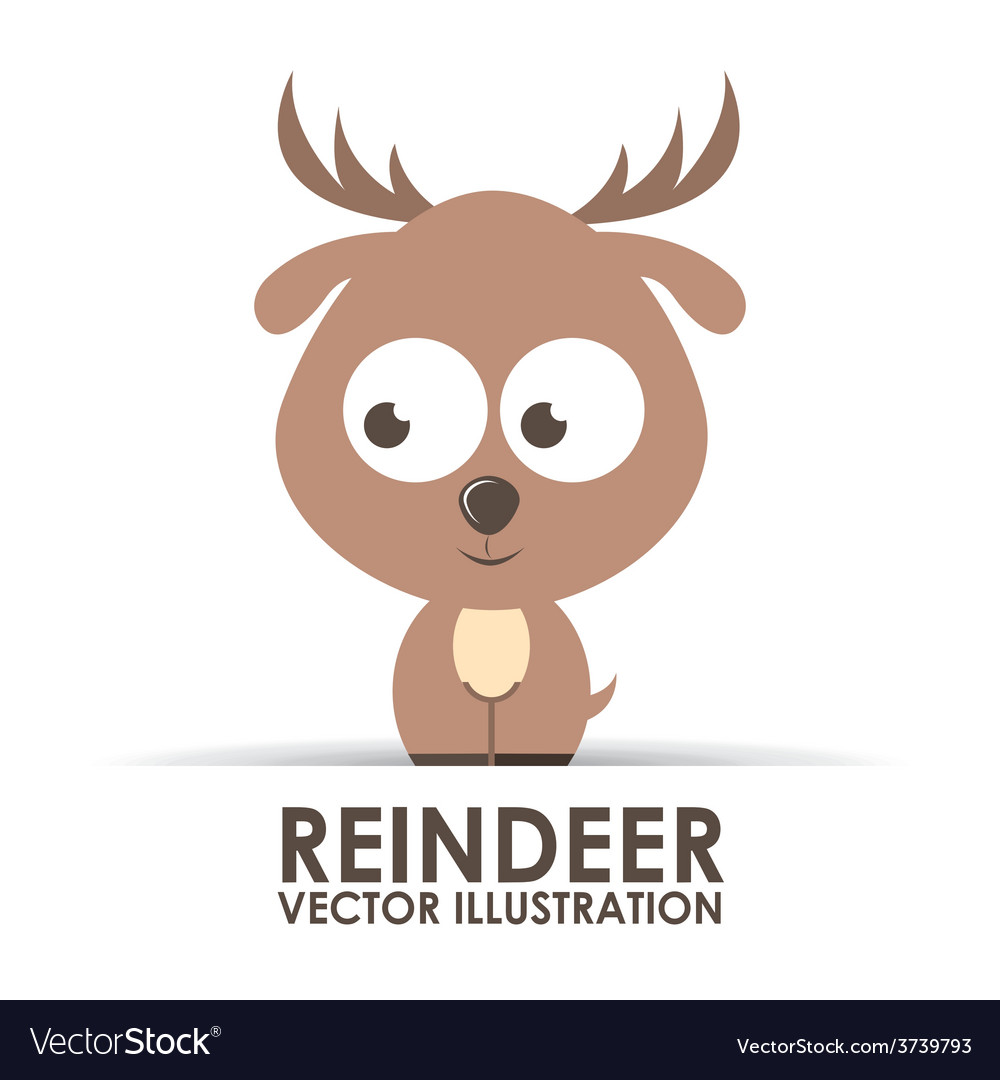 Reindeer design vector | Price: 1 Credit (USD $1)
