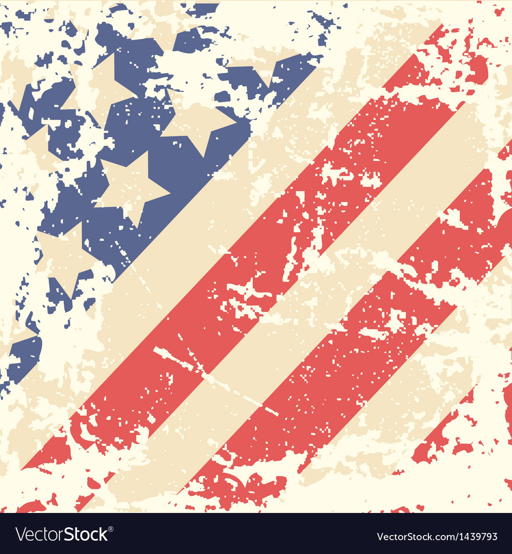 Retro background with american flag vector | Price: 1 Credit (USD $1)