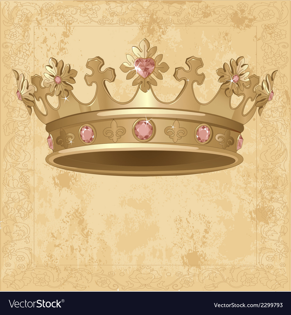 Royal crown background vector | Price: 1 Credit (USD $1)