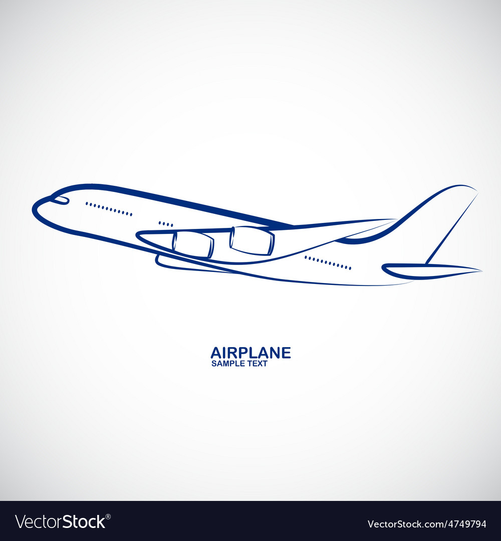 Airplane 5 vector | Price: 1 Credit (USD $1)