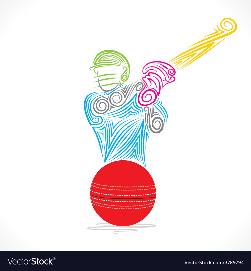 Batsmen hit the ball banner design vector | Price: 1 Credit (USD $1)